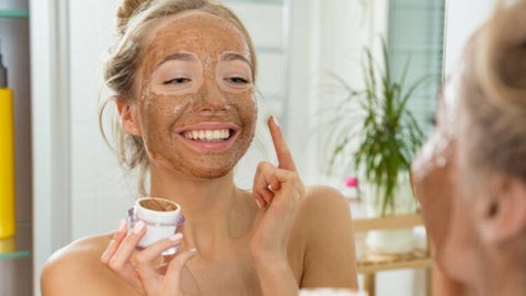 What does it do to apply coffee to the skin?