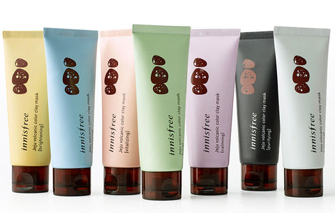 [Innisfree] Jeju Volcanic Color Cream Clay, Transforming Foaming , Contains Hyaluronic Acid, Mask Water Gel Type
