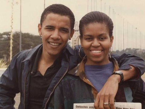 barack and michelle obama at young age