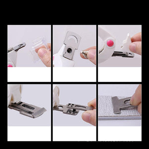 acrylic nail clippers nail tip cutter with catcher