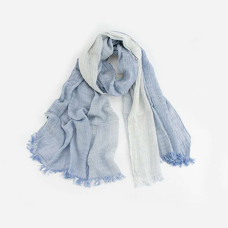 Load image into Gallery viewer, cotton shawl wrap linen scarf lightweight