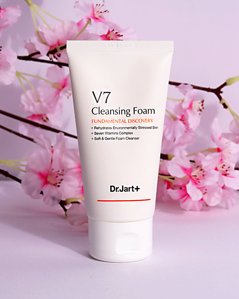 [Dr.jart] V7 Cleansing Foam All Natural Ingredients Skin-Friendly Includes 7 Vitamins Restore Moisture, Brightness, And Elasticity