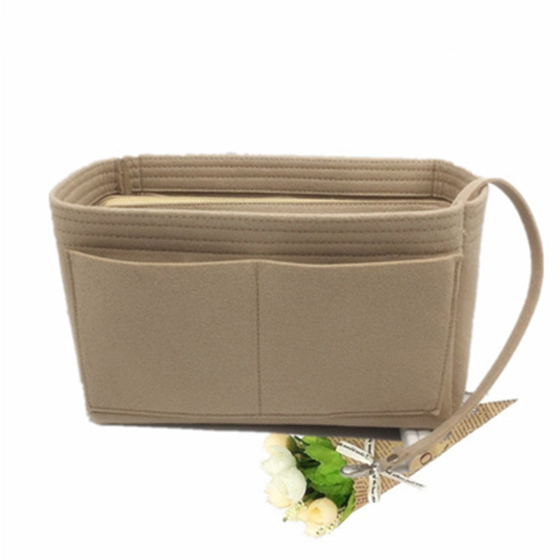 Unisex Purse Organizer Insert Zipper Makeup Cosmetic Box Tote Shaper Handbag Small Medium Large Size Options
