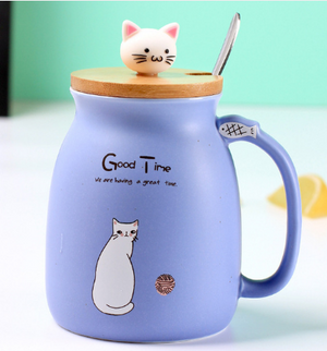 Load image into Gallery viewer, Cat Themed  Porcelain Ceramic Mugs
