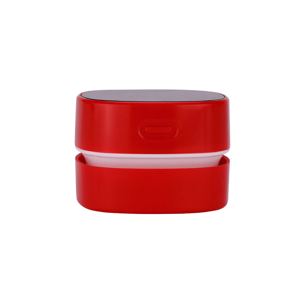 Load image into Gallery viewer, Red Desktop Vacuum Cleaner Mini Table Dust Sweeper