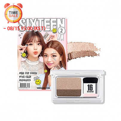 [16 Brand]16 Eye Magazine ready two tone eyeshadow