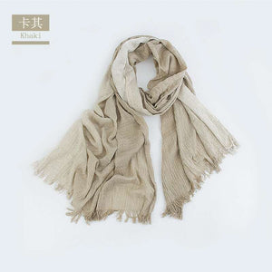 Lightweight Summer Scarf Light Shawl Wrap Linen Feel Scarves For Men And Women