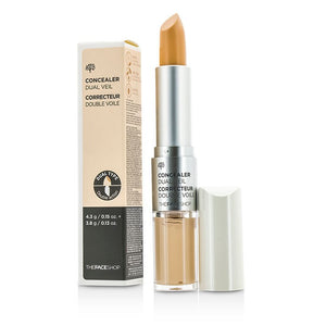 Load image into Gallery viewer, [The face shop] Concealer Dual Veil (V107 Ivory Beige) Full or Natural Coverage Long Lasting No Crease Enriched with Minerals Dual Everyday Makeup
