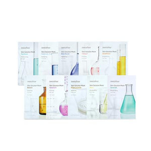 Load image into Gallery viewer, [Innisfree] Skin Clinic Mask Sheet BHA Madecassoside Vitamin C Catechin Peptide Collagen Hyaluronic Acid Moisture Locking Rejuvenates Anti-Wrinkle