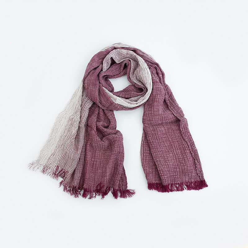 Red Natural 100% Extra Fine Cotton Super Soft Long-staple Scarf