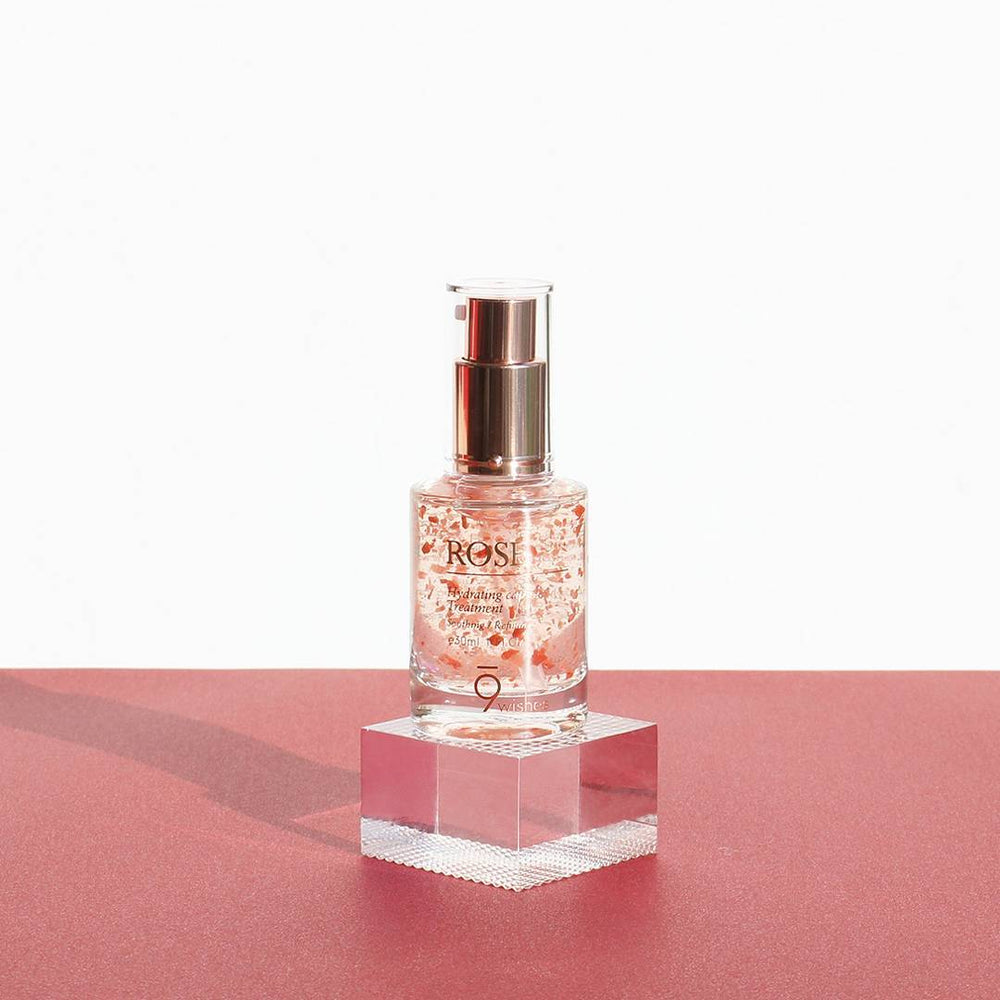 Load image into Gallery viewer, [9wishes] ROSE Capsule Essence Facial Serum Damascena Flower Extract Skincare Hydrates Moisturizes Anti-Wrinkle Anti-Blemish