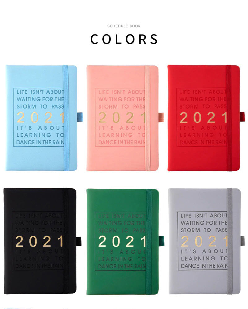 agenda notebook 2021 leather soft cover journal