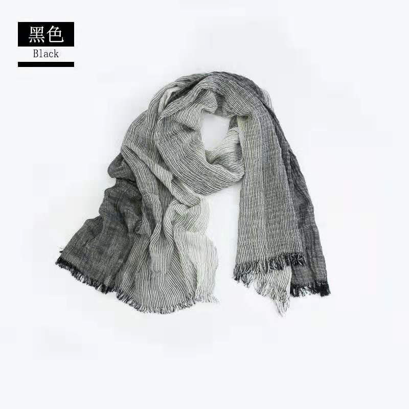 cotton shawl pattern scarf for men dark color