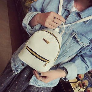 Load image into Gallery viewer, cute mini backpacks for teenage girl white color
