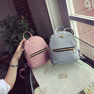 New Trend Of Minimalist PU Backpack Cute And Attractive Small Back Easy Access And Lightweight Pink Blue White Black 2020 Collection
