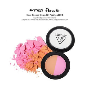 [3CE] Duo Color Face Blush Contouring Perfect Pigmentation Powder