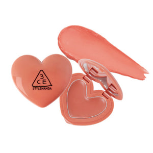 [3CE] Heart Pot Lip Balm Hydrating Glossy Intense Vivid Color