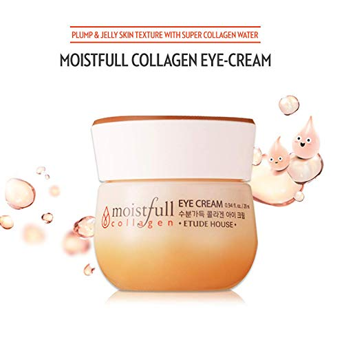 [Etude house] Moistfull Collagen Eye Cream 28ml Collagen Water & Baobab Oil Provide Rejuvenation And Fill Your Dry Skin With Moisture