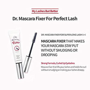 [Etude house] Dr.Mascara Fixer For Perfect Lash (Natural Volume Up) Long-Lasting Smudge-Proof Mascara Fixer with Care Effect Korean Makeup