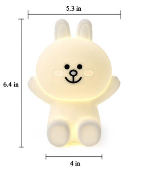 Silicone Bear Baby LED Night Sensitive Tap Control Lamp