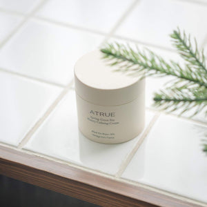 A'True Spring Green Tea Watery Calming Cream 80g Skin Soothing Facial Cream, Fresh Lightweight Texture Moisturizing Cream