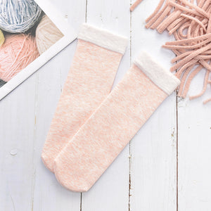 White Pink Women's Fuzzy Soft Fluffy Socks Thick Candy Color Warm Fleece Perfect Winter Gifts Outdoor Socks
