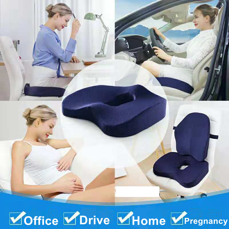 best seat cushion for buttock pain;xtreme comforts coccyx orthopedic memory foam seat cushion softacare seat cushion coccyx orthopedic memory foam and lumbar support pillow