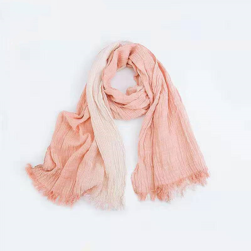 Pink  Cotton Super Soft Long-staple Scarf