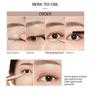 [Etude house] Tear Eye Liner Contains Crystal And Opal Pearl Natural Drop Effect Skin Friendly Ingredients
