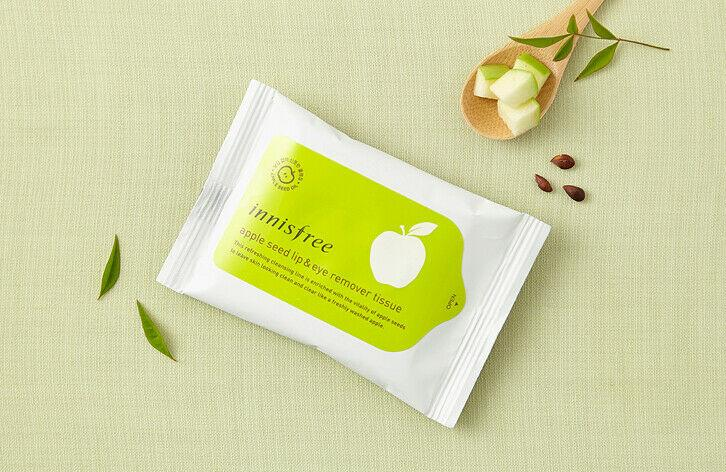 Load image into Gallery viewer, [Innisfree] Apple Seed Lip & Eye Remover Tissue 30 Sheets Facial Cleanser