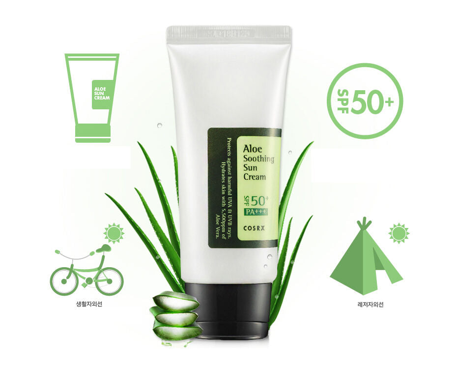 [COSRX] Aloe Soothing Sun Cream 50ml Prevents UVA and UVB