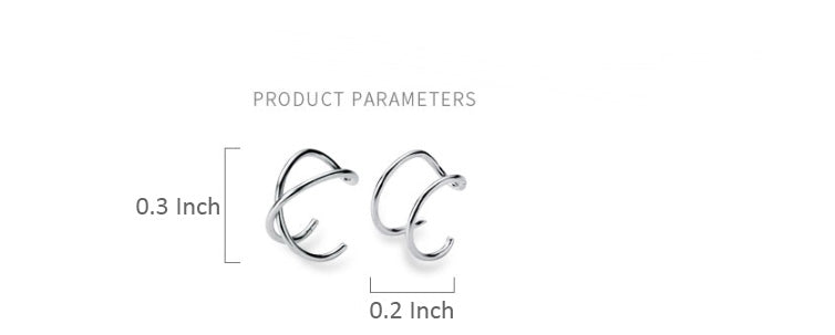 S925 Sterling Silver, Gold, Black Clip On Minimalist Small Simple Hoop Earrings