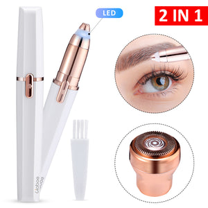 Hapord Eyebrow Hair Remover Hassle-free Portable Eyebrow Hair Removal Razor with Light Battery Included