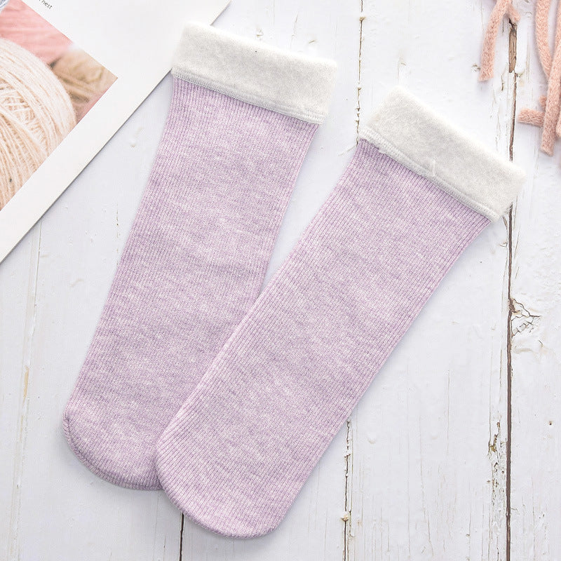 Women's Fuzzy Soft Fluffy Socks Thick Candy Color Warm Fleece Perfect Winter Gifts Outdoor Socks