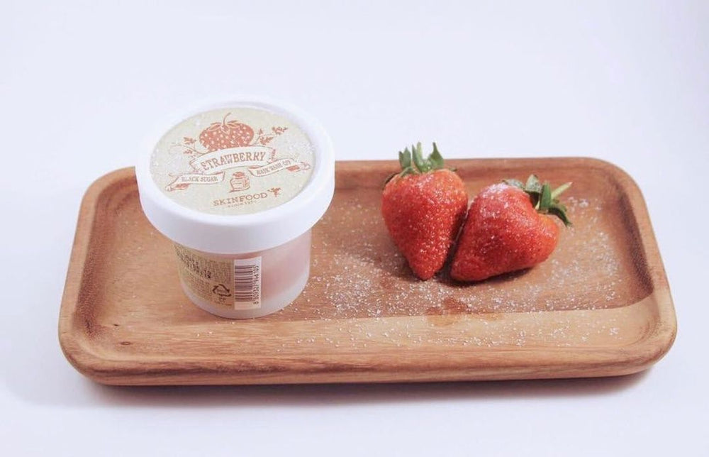 [Skinfood] Black Sugar Strawberry Mask Wash off 100g Exfoliating Cleanser Sebum Control Smooth