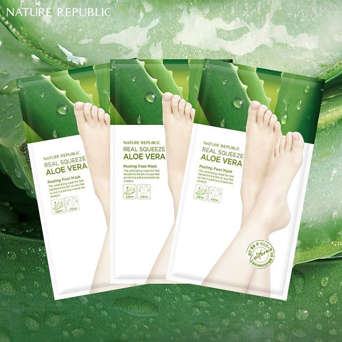 Load image into Gallery viewer, [Nature Republic] Foot&Nature Aloe Peeling Foot Mask (For More Fresh , Exfoliating Effect)