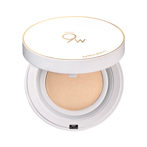[9wishes] Light Fit Perfect Cover Cushion SPF50+ PA++++ Whitening Anti-wrinkle Sun Protection Foundation Healing Skincare Makeup for Oily Acne Sensitive Skin