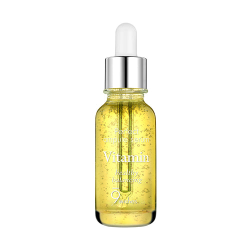 [9wishes] Mega Vitamin Ampule Serum Apple Water B3 C E Verticillate Root And Honey Extract Infused Skincare Hydrates Moisturizes Anti-Wrinkle Anti-Blemish