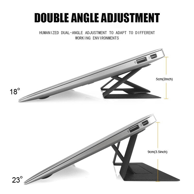 Universal Adjustable Laptop Stand Portable Foldable Invisible Bracket Holder for MacBook Pro base para suporte notebook support