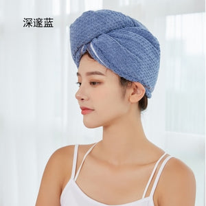 Microfiber Hair Towels Wrap for Women Curly Hair Spa Turban Rapid Hair Drying Towel Bath Shower Cap Quick Dry Towel for Head