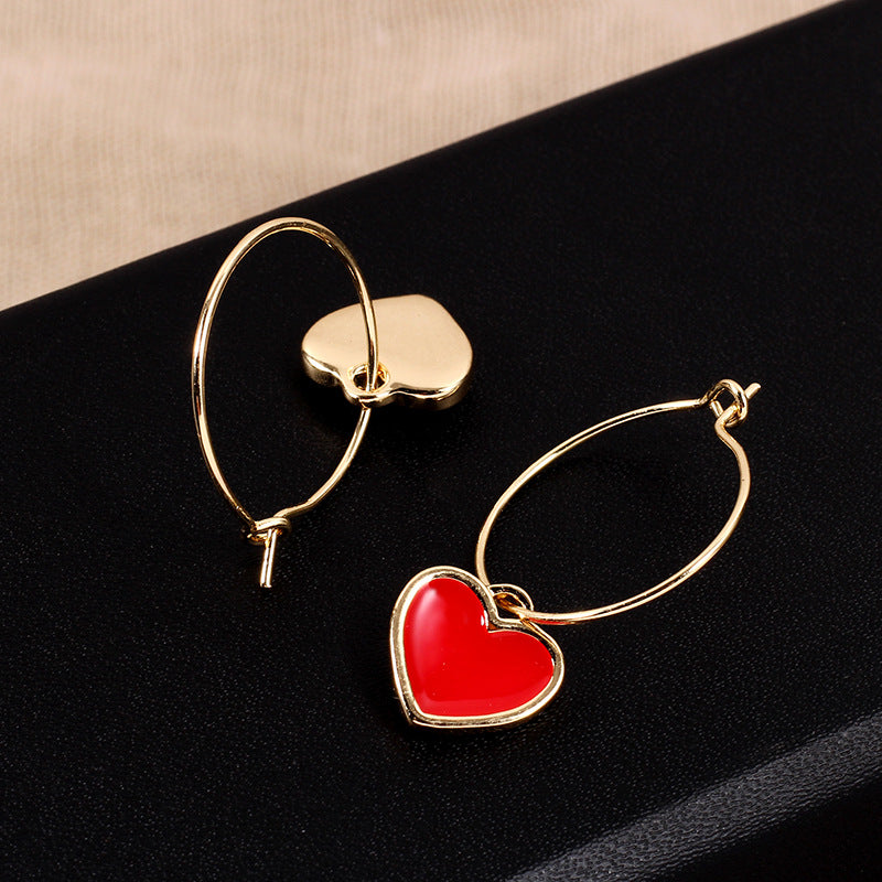 Load image into Gallery viewer,  Gold Hoop Pendant Earrings For Present