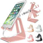 Adjustable Cell Phone Tablet Switch Stand Aluminum Desk Table Holder Cradle Dock Mount For iPhone