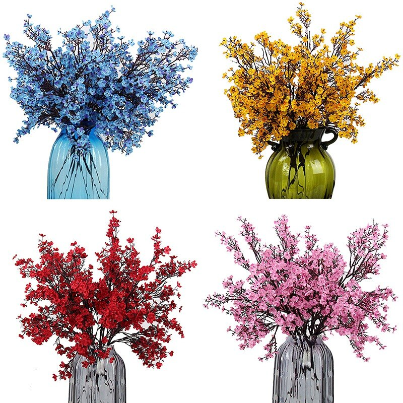 Artificial Baby's Breath Flower Silk Cloth 1PCS With Multi-Color Options for Home Room Office Centerpiece Party Wedding Decor