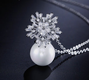 Silver Pearl Plated Necklace
