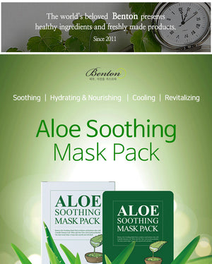 [Benton] Aloe Soothing Mask Pack 10ea Nourishes And Hydrates For Dry And Vital Skin