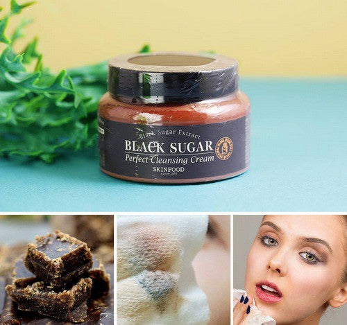 Load image into Gallery viewer, [Skinfood] Black Sugar Perfect Cleansing Cream 230ml Remove Impurities Heavy Makeup Organic Brazilian Minerals to Hydrate Nourish Skin
