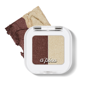 Load image into Gallery viewer, [A'PIEU] Mineral Mono Shadow(Dual) #10 (Tiramisu Time) Fall Nudes High Pigmentation Glitter Translucent Easy Blend