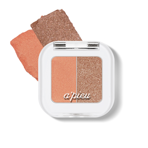 [A'PIEU] Mineral Mono Shadow(Dual) #10 (Tiramisu Time) Fall Nudes High Pigmentation Glitter Translucent Easy Blend