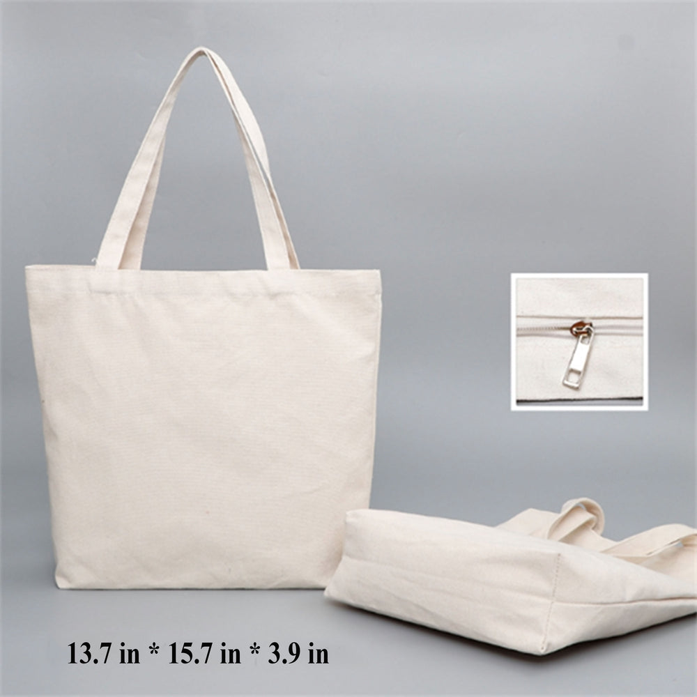 Populer Environmental Canvas Tote Bags Heavy Duty With Handles Gusset Bulk Grocery, Laptop, Beach Plain Cotton For Crafts Printing Unisex
