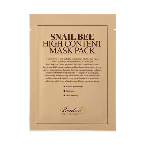 [Benton] Snail Bee High Content Mask Pack